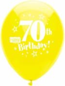 Happy 70th Birthday Party Balloons