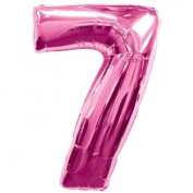 Partyrama Number 7 Pink Supershape Foil Balloon 60cm X 90cm