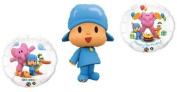 POCOYO Pocoyó (3) Blue Figure Happy Birthday PARTY Favour Supplies Mylar BALLOONS