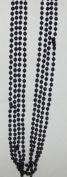 Festival Black Bead Necklaces-4 count