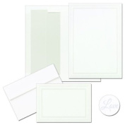 Masterpiece Studios 9036149 Triple Pearl White Invitation And Note Card Kit- Pack of 50 Cards & 50 Envelopes
