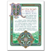 May the Road Rise Up to Meet You Greeting Card with Envelope Irish Blessing