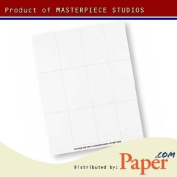 Masterpiece White 6-up Place Card - 10 Cards