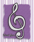 Purple Clef, Thank You Stationery Card
