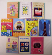 Deluxe Handmade Birthday Greeting Cards 10 Pack