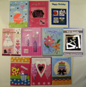 Deluxe Handmade Greeting Cards All Occasion 10 Pack
