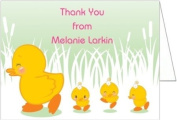 Girl Ducklings Baby Shower Thank You Cards - Set of 20