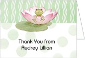 Lily Pad on Green Baby Shower Thank You Cards - Set of 20
