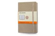 Moleskine Classic Coloured Notebook, Pocket, Ruled, Khaki Beige, Soft Cover