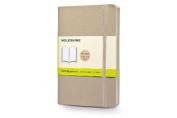 Moleskine Classic Coloured Notebook, Pocket, Plain, Khaki Beige, Soft Cover