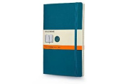 Moleskine Classic Coloured Notebook, Large, Ruled, Underwater Blue, Soft Cover