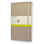 Moleskine Classic Coloured Notebook, Large, Plain, Khaki Beige, Soft Cover