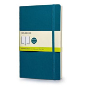 Moleskine Classic Coloured Notebook, Large, Plain, Underwater Blue, Soft Cover