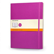 Moleskine Classic Coloured Notebook, Extra Large, Ruled, Orchid Purple, Soft Cover