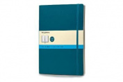 Moleskine Classic Coloured Notebook, Extra Large, Dotted, Underwater Blue, Soft Cover