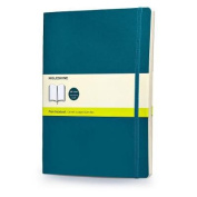 Moleskine Classic Coloured Notebook, Extra Large, Plain, Underwater Blue, Soft Cover