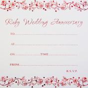 Jean Barrington Ruby Wedding Anniversary Invitations