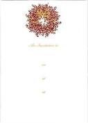 Caspari Pepperberry Wreath Red/Gold Invitations