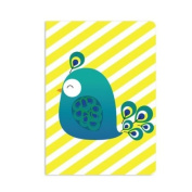 UFF Sunrise Note Card - Peacock (1 Card + 1 Envelope + 1 Sticker) | Rungtong & Co. Stationery Line