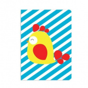 UFF Sunrise Note Card - Rooster (1 Card + 1 Envelope + 1 Sticker) | Rungtong & Co. Stationery Line