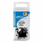 Swingline Products - Binder Clips, Scratch-Resistant, 15PK, Assorted Sizes - Sold as 1 PK - Binder clips offer durable construction to keep large documents firmly together with extra-strong holding power. Corrosion-resistant and scratch-resistant.