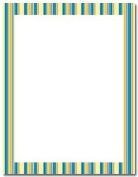 Masterpiece Bold Stripes Letterhead - 8.5 x 11 - 100 Sheets