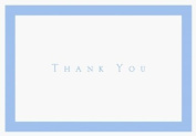 Periwinkle Thank You Note Cards & Envelope