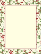 Just Print! Candy Cane & Holly Letterhead, 80-pk