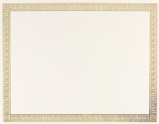 Masterpiece Channel Border Foil Certificate - 15 Sheets