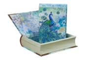 Punch Studio Paisley Peacock Notecards in Keepsake Book Box