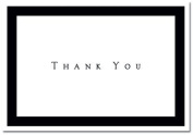 Tuxedo Black Thank You Note Cards & Envelopes - Quantity of 50