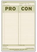 Knock Knock Pro / Con Notepad