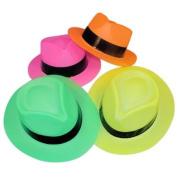 Neon Fedora Party Hats 12 pc