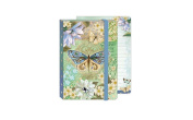 Punch Studio Everyday Soft Cover Bungee Journals-Blue Butterfly 59325