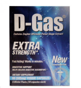 Nature Health D-Gas Natural Anti-Gas, Digestive Aid and Gas Relief, 60 Count