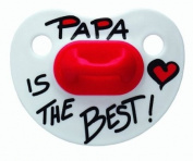 bibi silicone night-time BPA FREE soother, cherry shape, Mama/Papa classic, 1st day