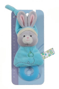 Gipsy Pomme 070168 Soft Toy / Teething Ring Rabbit 17 cm Turquoise