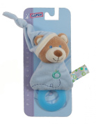 Gipsy Pomme 070167 Soft Toy Bear with Teething Ring 17 cm Blue