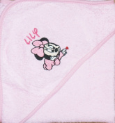 Disney Personalised 100% Cotton Baby Hooded Bath Towels (Minnie Mouse, Mickey Mouse or Goofy)