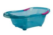 dBb Remond 306049 Translucent Bathtub with Plughole and Non-Slip Handles Turquoise