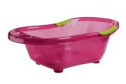 dBb Remond 306008 Translucent Bathtub with Plughole and Non-Slip Handles Pink