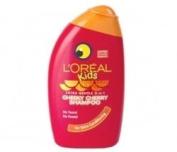 THREE PACKS of Loreal Kids Cheeky Cherry 250ml Shampoo