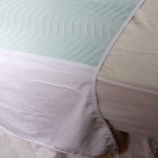 Community 75 x 90cm With Wings, 3L Washable Waterproof Absorbent Bed Pad Single Bed, twin pack