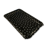 White Polka Dots Changing Mat in Black