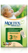 Moltex Nature No. 1 Midi (42 nappies) 4 to 9 kg, 8.5 to 20 lb