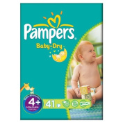 Pampers Baby Dry Size 4+ (9-20kg) Essential Pack Maxi Plus 2x41 per pack