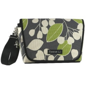 Reese Li Charcoal Berry Green Doodle Fairfax Changing Clutch