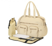 Oioi Carry All Baby Changing Bag - Almond Faux Lizard