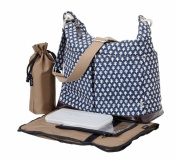 OiOi - Hobo Baby Changing Bag - Navy Mini Geo Two Pocket