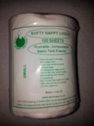Little Green Earthlets Flushable Nappy Liners Softy - Small - Single Roll